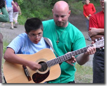 Learning the Guitar at Camp