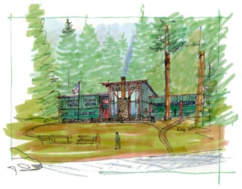 Artist Rendition of the Lodge Renovation